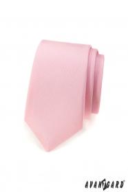 Keskeny nyakkendő matt rózsaszín