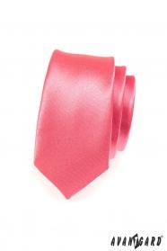 Keskeny korall színű nyakkendő