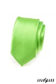 Keskeny zöld nyakkendő fényes