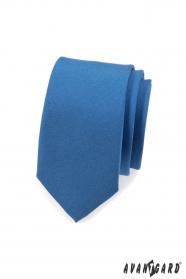 Keskeny fekete-fehér kék nyakkendő