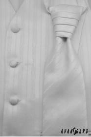 Férfi esküvői mellény fehér finom csíkok