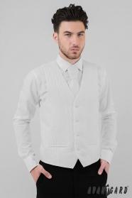 Férfi esküvői mellény fehér átlós vonalak