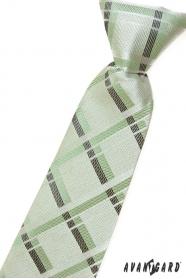 Fiú nyakkendő zöld csíkkal