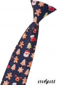 Gyermek nyakkendő karácsonyi motívummal