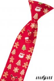 Rote Weihnachtskrawatte für Kinder 31 cm