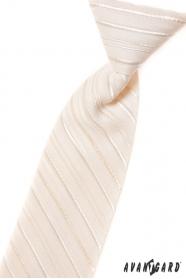 Fiú nyakkendő krém vonalakkal