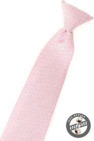 Rózsaszín strukturált fiú nyakkendő
