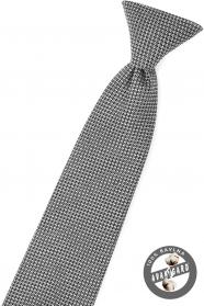 Fekete, szürke fiú nyakkendő