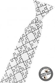Fehér baba nyakkendő puzzle
