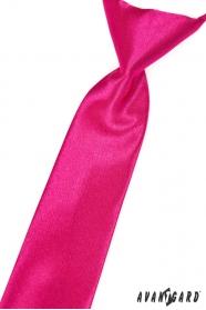 Fuchsie fényes fiú nyakkendő