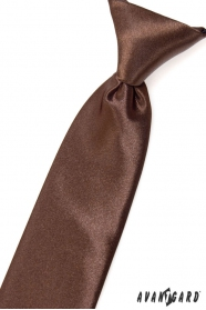 Barna fényes fiú nyakkendő