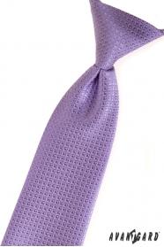 Fiú nyakkendő lila strukturált