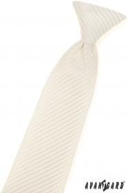 Mintás krémszínű fiú nyakkendő