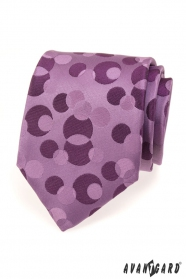 Férfi nyakkendő lila mintás