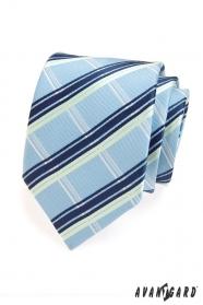 Férfi nyakkendő kék és fehér csíkok