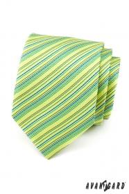 Világoszöld, csíkos nyakkendő