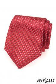 Piros strukturált AVANTGARD nyakkendő