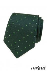 Zöld nyakkendő mintával