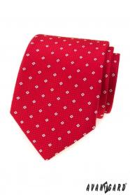 Piros nyakkendő mintával