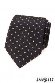 Barna nyakkendő mintával