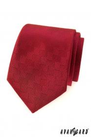 Piros férfi nyakkendő szaggatott struktúra