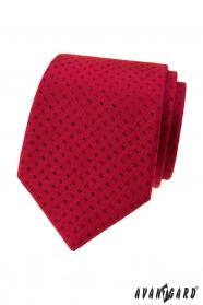 Piros nyakkendő kis fekete téglalapok