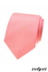Strukturált nyakkendő lazac színben