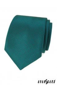 Türkiz nyakkendő fekete négyzetekkel