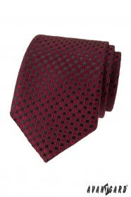 Burgundi nyakkendő fekete mintával