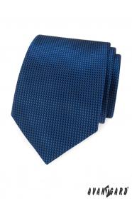 Kék nyakkendő steppelt mintával