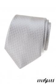 Szürke nyakkendő steppelt mintával