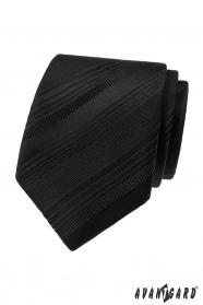 Fekete nyakkendő, különböző csíkokkal