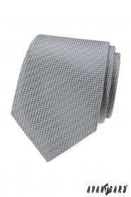 Szürke nyakkendő összefonódó mintával