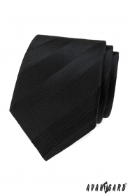Fekete férfi nyakkendő csíkokkal