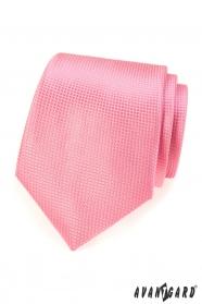 Rózsaszín strukturált nyakkendő - 7 cm