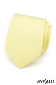 Puha, sárga színű nyakkendő
