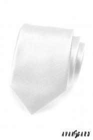 Egyszerű, sima fehér férfi nyakkendő