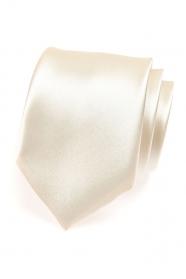 Fényes krémszínű nyakkendő