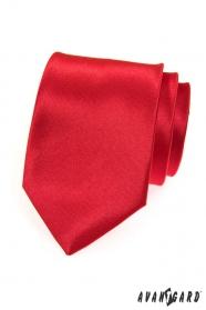 Férfi nyakkendő, sima piros