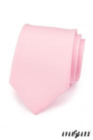 Férfi nyakkendő rózsaszín matt