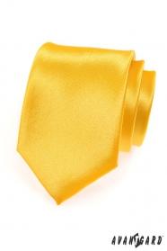 Férfi nyakkendő sárga, fényes