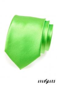 Férfi nyakkendő, közepes-zöld