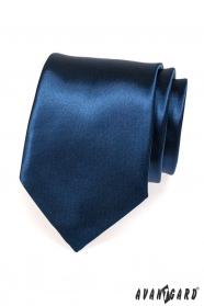 Sötétkék fényes nyakkendő