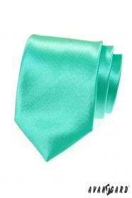 Fényes menta zöld nyakkendő