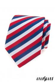Férfi nyakkendő Tricolor Lux