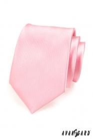 Férfi nyakkendő rózsaszín fényes