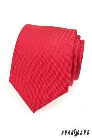 Piros férfi nyakkendő finom szerkezettel