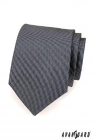 Férfi nyakkendő grafit színű finoman strukturált
