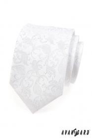 Fehér nyakkendő a mintával