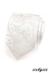 Férfi nyakkendő, krémszínű mintával